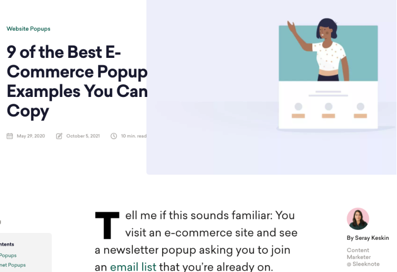 9 of the Best E-Commerce Popup Examples You Can Copy