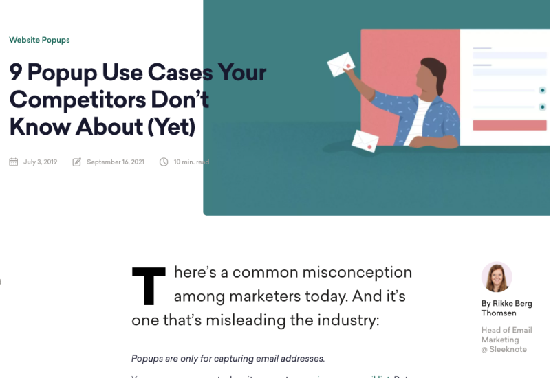 9 Popup Use Cases Your Competitors Don't Know About (Yet)